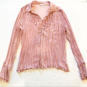 5 For $25 Sale Apt 9 Sheer Long Sleeve Button Down Blouse